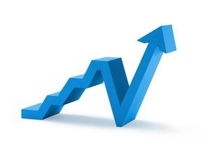 La flèche sert à illustrer les notions de performance, de compétitivité.